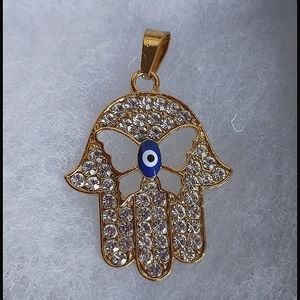 Jewelry - Gold Stainless Steel Hamsa Hand Pendant